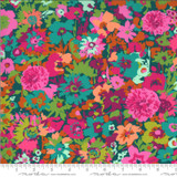 ARRIVING SOON Flower Field Teal | Kasada by Crystal Manning | per 1/2 metre length