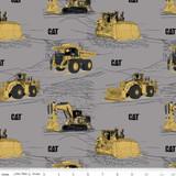 CAT® Main Gray | Riley Blake Designs | per 1/2 metre