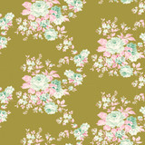 Autum Rose Green | Tilda Harvest | per 1/2 metre
