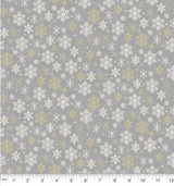 Scandi Christmas snowflake Metalic Grey Col 104 - per half metre length
