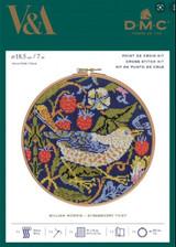 V&A William Morris - Strawberry Thief  Cross stitch kit