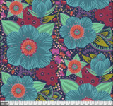 Honourable Mention QBAH002 Turquoise wide width backing