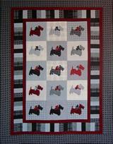 Scottie Dogs Flannel Quilt
