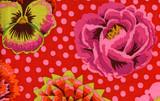 Big Blooms Red  1/2 Metre Length
