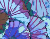 BLUE Lotus Leaf Kaffe Classics  1/2 Metre Length