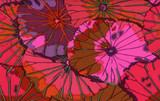 KF Classics - Lotus Leaf - Wine  1/2 Metre Length