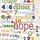 Riley Blake - Jigsaw Words 1/2 Metre Length