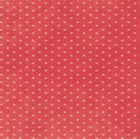 Devotion - Mini Print Red 1/2 Metre Length