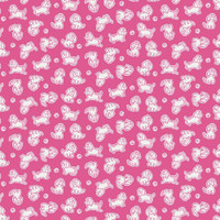 Strawberry Biscuit - Poodle Hot Pink 1/2 Metre Length