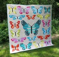 "Lepidoptera Kitset Quilt - By Elizabeth Hartman  Finished size 84"" x 84"""