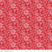 WISTFUL PETAL RED 1/2 Metre Length