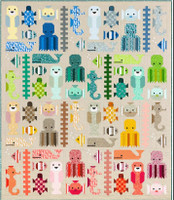 """Awesome Ocean by Elizabeth Hartman Large Kitset  71"""" x 83"""" (and Quarter size 37"""" x 43"""")"""