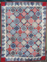 """Romani Bleu II  Quilt  53"""" X 70""""  Custom Quilted   ONE ONLY"""