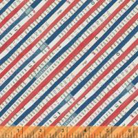 Wonder 50519- 2 col  red strip by Carrie Bloomston  - per half metre length