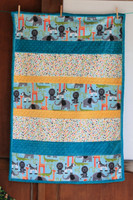 Bambino Jungle Animals Cuddle Minky  Finished size 30 x 38 - includes backing
