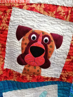 "Dog Face Quilt Kitset  Finished Size 60"" x 80"""