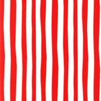 Dr Seuss - Cat in the Hat- strips red & white  - per half metre length