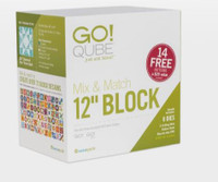 """Accuquilt - GO QUBE Mix & Match 12"""" block AQ55778"""
