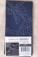 "Sashiko Cloth - Dragonfly - 100% cotton  approx finish 12"" x 12"""