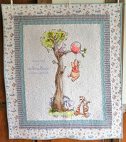 """Winnie-the-Pooh  Finished size 42"""" x 49"""" a quick project"""