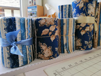 "Blue Sky Collection | Laundry Basket Quilts by Edytar Sitar | 8"" Jelly Roll  x 20 fabrics per roll"