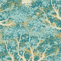 Juniper Teal - Tilda Woodland collection - 1/2 metre length