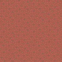 Hearts and Stars Red - On the 12th day Collection - 1/2 metre length