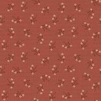 Starflower Sprigs Red - On the 12th day Collection - 1/2 metre length