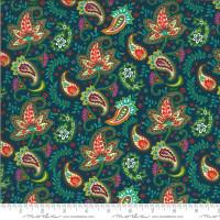Kasada- Paisley Teal   by Crystal Manning | per 1/2 metre length