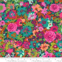 Kasada Flower Field Teal |  by Crystal Manning | per 1/2 metre length