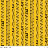 CAT® Tracks Yellow   Riley Blake Designs   per 1/2 metre