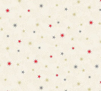 Scandi Christmas Scenic 106 Metalic stars - per half metre length
