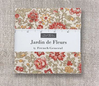 """French General Jardin De Fleurs 5"""" charm square"""