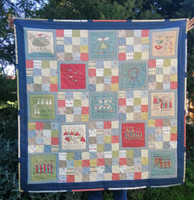 """12 Days of Christmas Quilt Finished Size 491/2"""" x 50"""""""