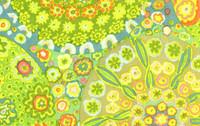 Millefiore Green   1/2 Metre Length