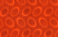 Aboriginal Orange   1/2 Metre Length