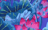 KF Classics - Lake Blossoms - Blue  1/2 Metre Length