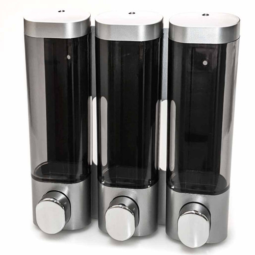 Premium Dispenser, Triple Chamber, Silver