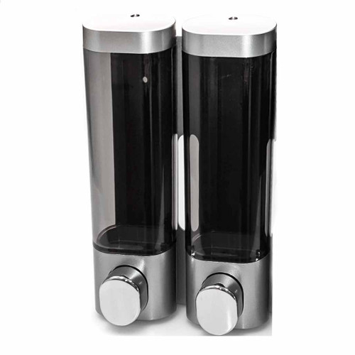 Premium Dispenser, Double Chamber, Silver