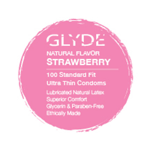 GLYDE ULTRA Organic Flavored Strawberry Bulk Condoms
