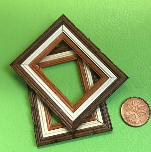Pair of Small Tri-Colour Picture Frames