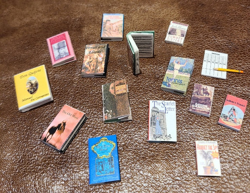 1/12 Scale Books with Words - NEW TITLES JUST ADDED
