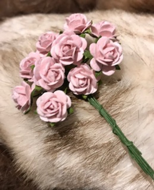 Baby Pink Paper Roses