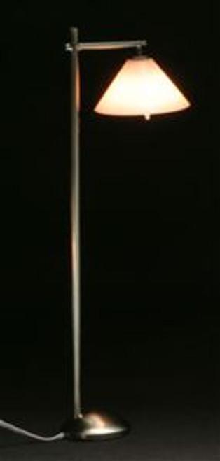 Modern Down Shade Floor Lamp - pewter