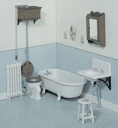 Miniature 1/12 Scale Bathroom Set Kit