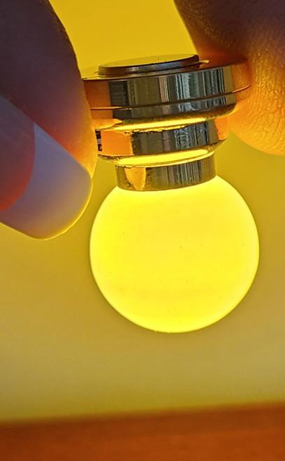 Battery Powered LED White Globe Light