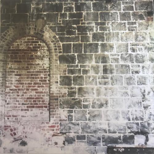 Paper Block Wall with Bricked in Doorway(12x12)
