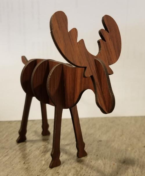 Miniature Wooden Moose