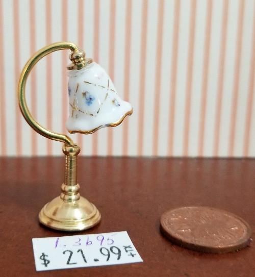 Reutter Porzellan -  Crosshatch Gold Porcelain Table Lamp