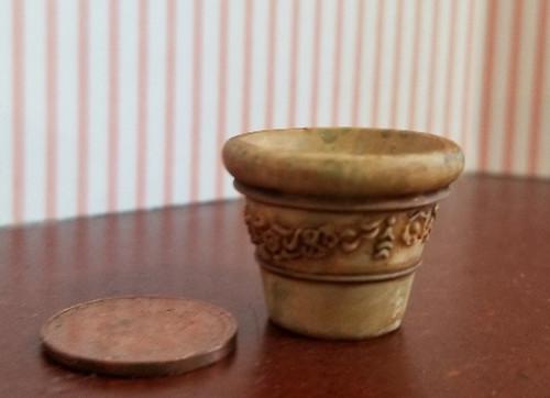 Aged Garden Pot - Small